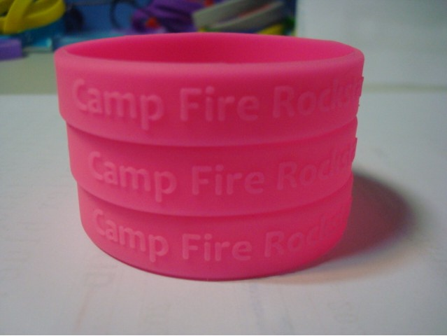 Cool Custom embossed logo wristbands