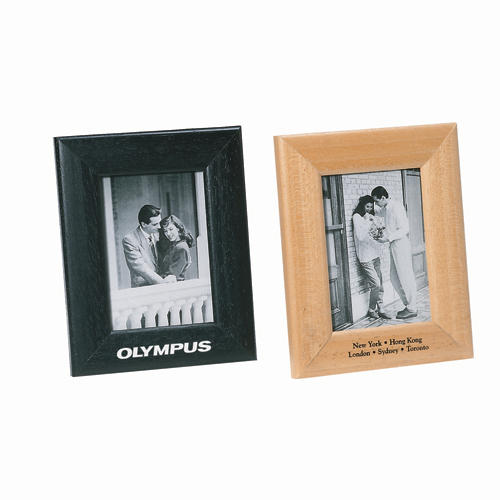 "4""x6"" silver plated wood photo frame"