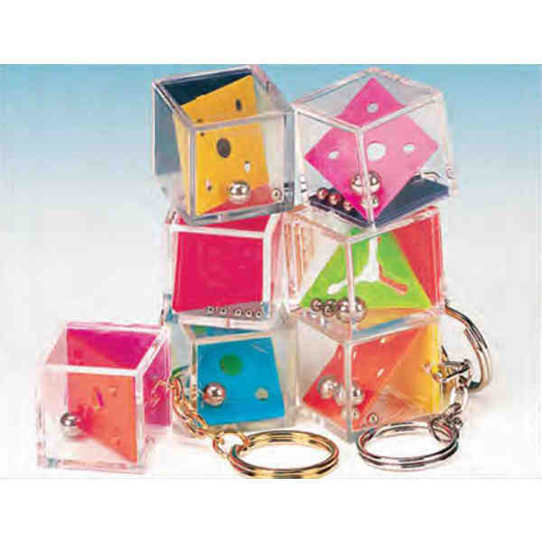 Custom assorted mini acrylic cube puzzle key tag