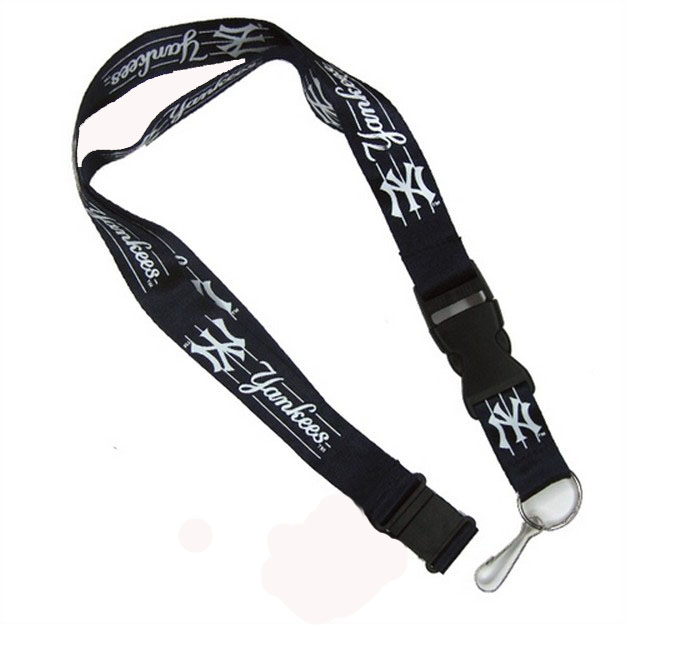 Sport polyester lanyard with nickel plated spring hook