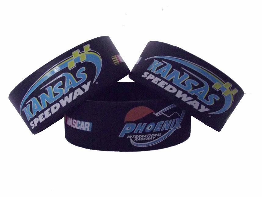 "1"" wide wristband with custom logo"