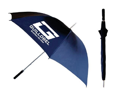 Black wind-proof golf umbrella