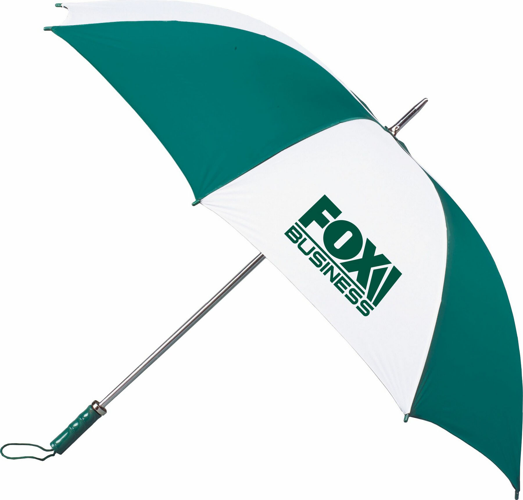 "Two tone 60"" arc painted handle umbrella"
